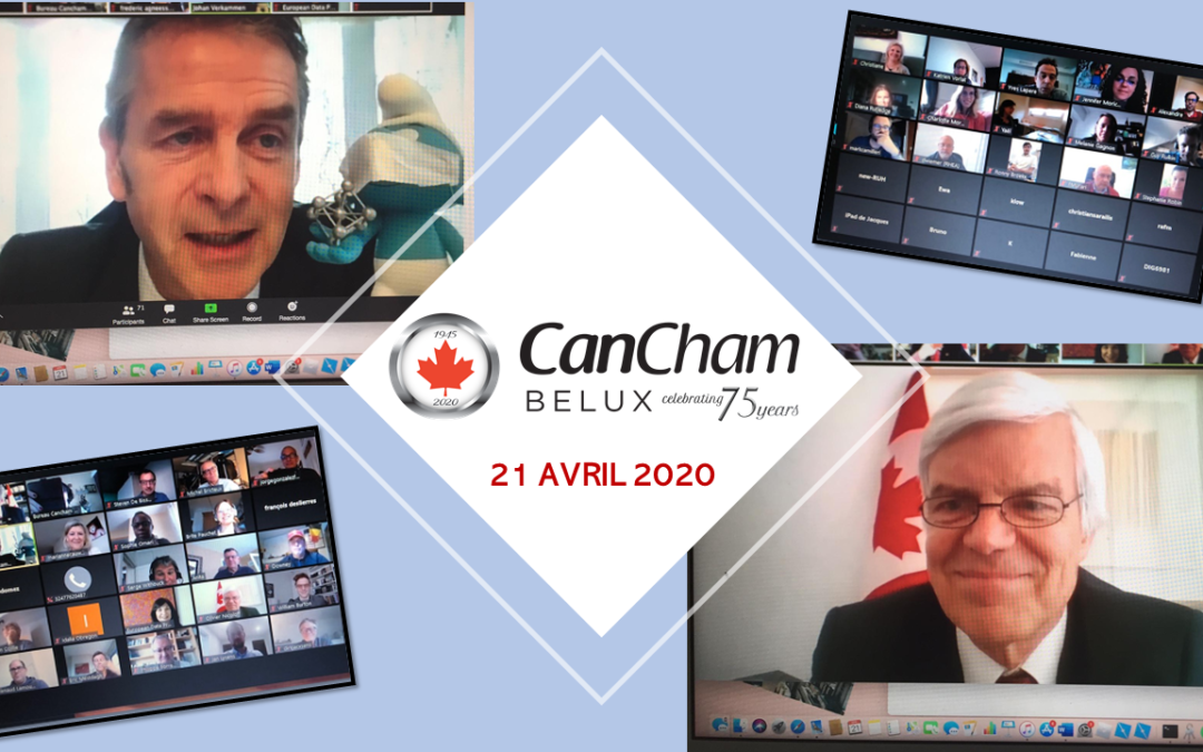 """21.04.2020 : Webinar """" What is the impact of the current Covid-19 crisis on the bilateral relationships between Canada and Belgium? """""""