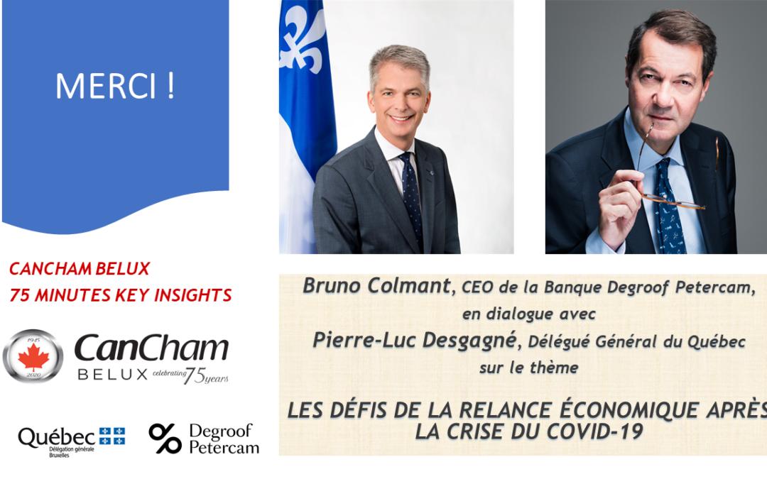 """27.05.2020 : Webinaire """"Les défis de la relance économique après la crise du Covid-19"""""""